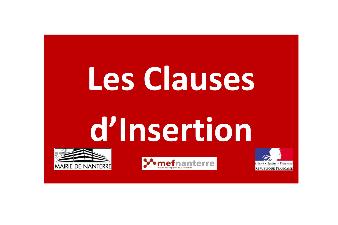 LES CLAUSES D'INSERTION