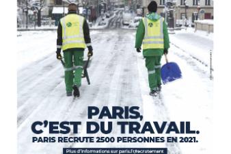 Ville de Paris : Calendrier des recrutements en cours