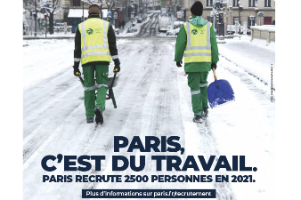 Ville de Paris : 2.500 recrutements en 2021