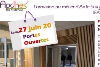 Portes ouvertes de  l'institut des Aides -Soignats  APDHES IFAS Pierre-Veaux