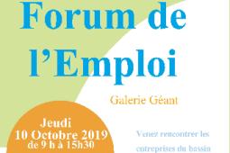 Forum de l'emploi. Rendez-vous 10 octobre dans la galerie de Géant.