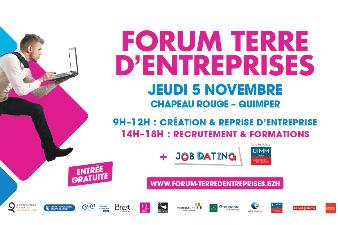 Forum Terre d'entreprise : créez, reprenez ou postulez!