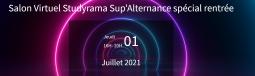 Salon Virtuel Studyrama Sup'Alternance spécial rentrée