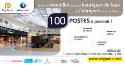 100 postes dans les boutiques de luxe à l'aéroport Paris-Orly