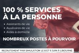 Recrutements Assistant(e)s et Auxiliaires de vie, Aides à domicile en Libournais