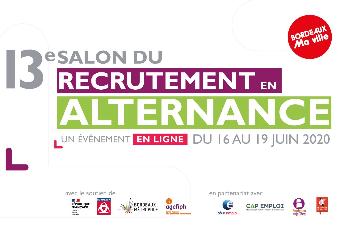 Salon du recrutement en alternance - Evénément en ligne - du 16 au 19 juin