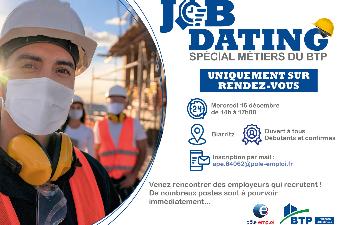 Job Dating Métiers du BTP : mercredi 16 décembre à Biarritz