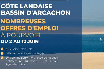 SALON EN LIGNE - EMPLOIS COTE LANDAISE ET BASSIN D'ARCACHON