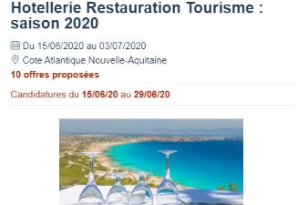 Hôtellerie-Restauration-Tourisme / Côte Nouvelle Aquitaine