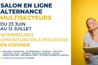 Salon en ligne - Contrats d'alternance en Gironde