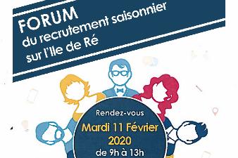 Forum du recrutement saisonnier - 11 fév - Le Bois-Plage-en-Ré (17)