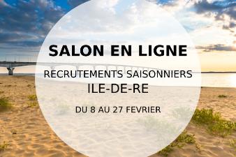 Salon en ligne - Recrutements saisonniers - Île de Ré