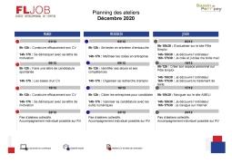 Ateliers FLJob Décembre 2020