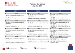 Ateliers Emploi et Numérique Janvier 2021