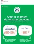 1jeune 1solution : Prolongation des aides à l'embauche des jeunes