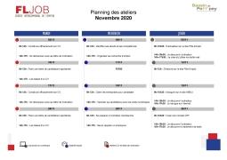 Inscrivez vous aux ateliers de FLJob!