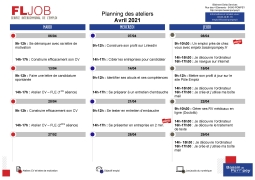 Ateliers Emploi et Numérique Avril 2021