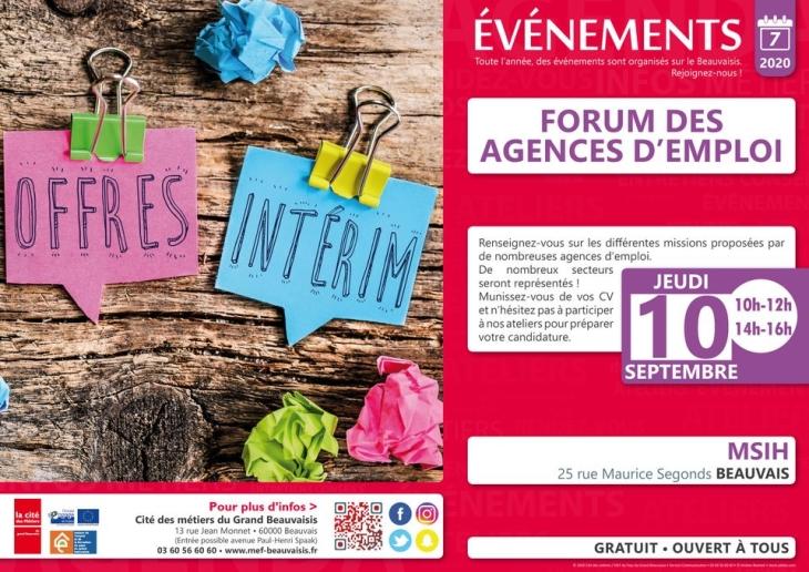 Affiche forum des agences d'emploi