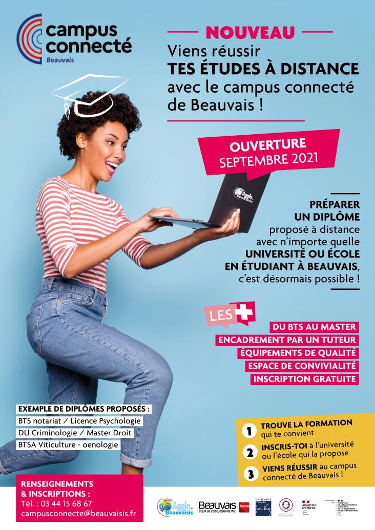 affiche ouverture campus connecté