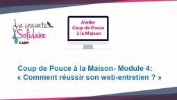 """La Cravate Solidaire Caen en place des ateliers""""Coup de Pouce à la maison"""""""