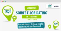 1er e-Job Dating pour l'emploi des jeunes du Crédit Agricole Normandie et WIZBII