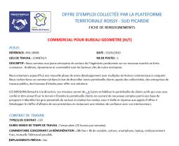 Offre d'emploi : Commercial - Bureau de géomètre (H/F)