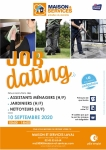 Job dating Assistants ménagers, jardiniers, nettoyeurs (H/F)