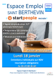 Session de recrutement Start People