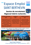 Session de recrutement Régional interim