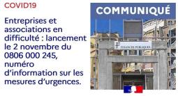 COVID-19 : numéro d'information mesures d'urgences
