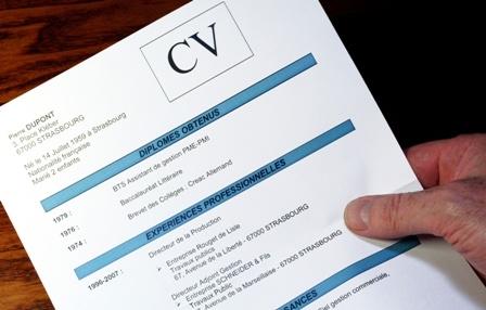 image d'un CV