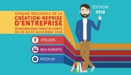 Semaine Régionale de la Création-Reprise d'Entreprise - Du 19 au 23 novembre 2018