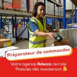 ADECCO Contrat- Formation Préparateur.trice de commande CDI apprenant 35H