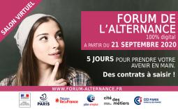 Forum de l'alternance du 21 au 25 septembre 2020