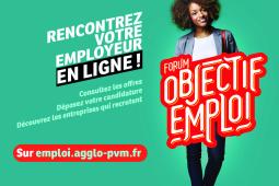 """Forum """"Objectif emploi"""" de Paris - Vallée de la Marne en ligne"""