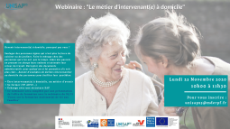 Webinaire: Le métier d'intervenant(e) à domicile - UNISAP95