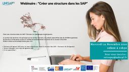 """Webinaire:  """"Créer une structure dans les SAP """" (Services à la personne)  UNISAP95"""