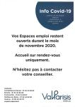 INFO COVID-19  / ESPACES EMPLOI VAL PARISIS