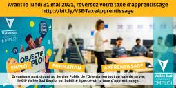 Reversez votre taxe d'apprentissage au GIP Vallée Sud Emploi