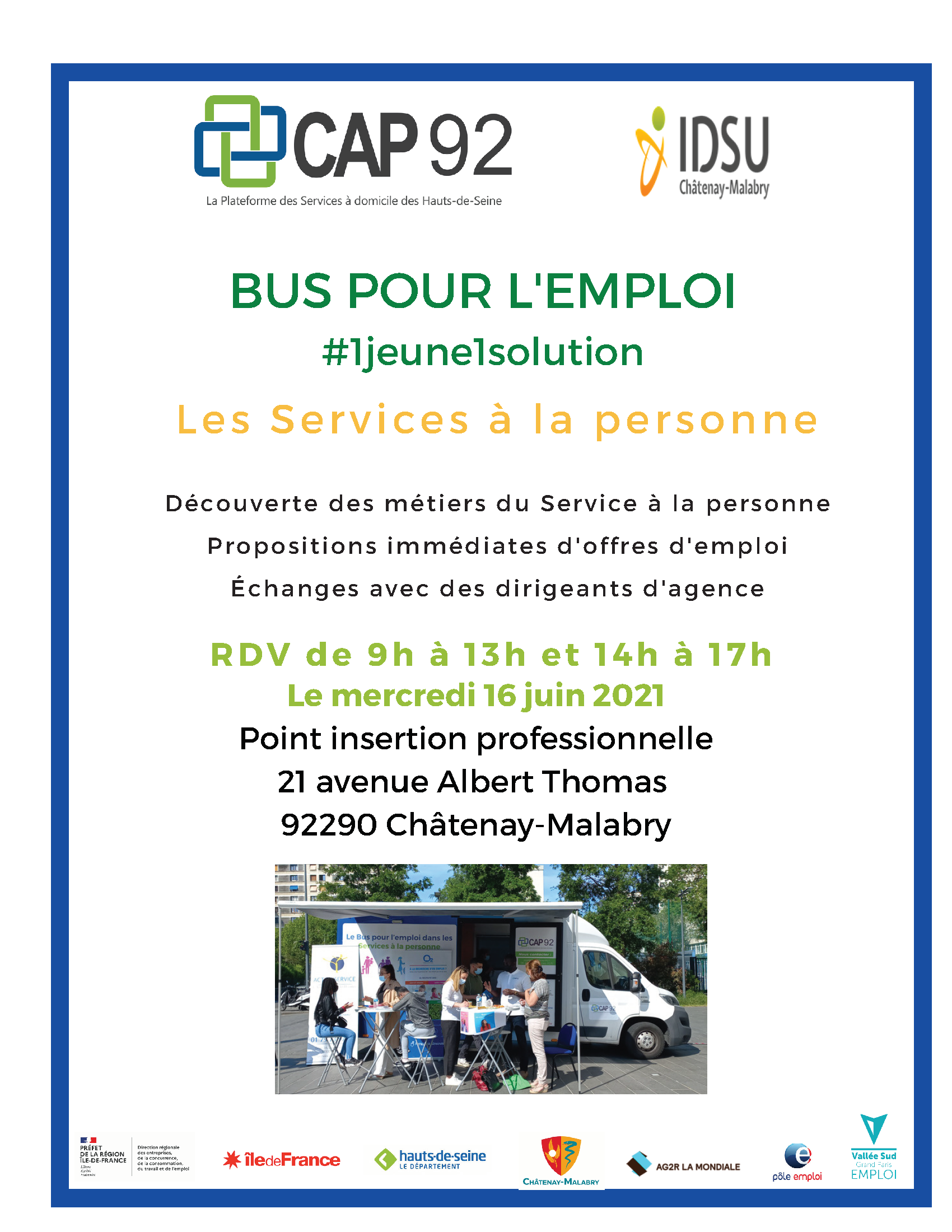 Vallée Sud Emploi bus Cap92 Châtenay-Malabry