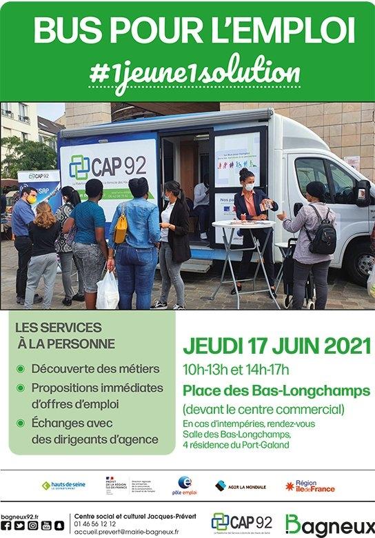 Vallée Sud Emploi bus Cap92 Bagneux